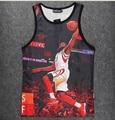 Nueva Tank Top 3D NBA Stringer Culturismo Hombres Camisa Chaleco Sin Mangas de Entrenamiento de Fitness NA-114