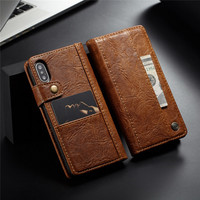 Sided Card Holder Magnetic Flip Book Stand Leather Wallet Case For IPhone X 8 7 6S