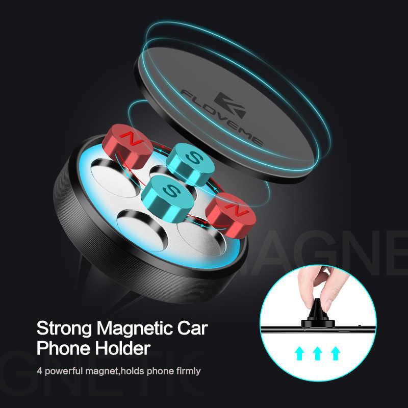 FLOVEME מגנטי לרכב עבור טלפון במכונית מגנט אוויר Vent אוניברסלי נייד טלפון הר Stand תמיכה מחזיק עבור xiaomi