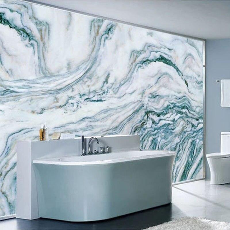 Us 13 65 46 Off Custom Self Adhesive Bathroom Mural Wallpaper Modern Blue Marble Ink Landscape Sticker Pvc Waterproof Home Decor Papel De Parede In