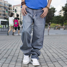 Spring and Autumn Large Size Classic Hiphop Casual Jeans Men Biker Cargo Jeans Pants 42 44 46 Men's Big and Tall Clothing