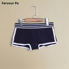 Fervour pe woman Pure Cotton Underwear Plus Size Stretch color Women Panties Boyshort handsome neutral Brief M-2XL A19033