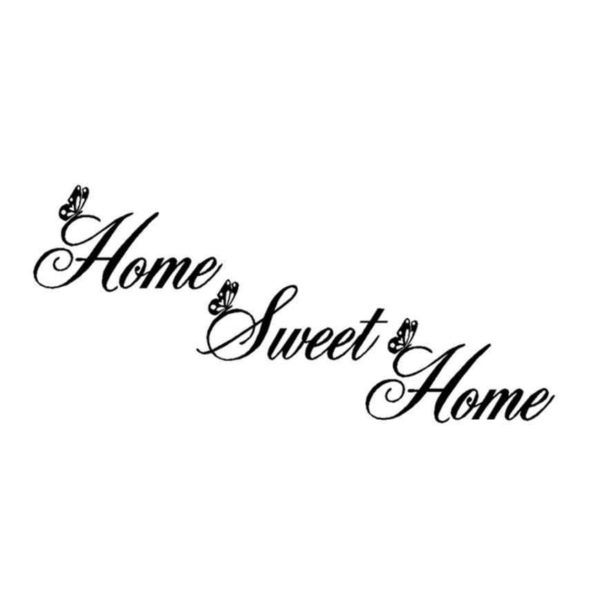 2019 Từ Đơn Giản Home Sweet Home Trang Trí Dán Tường DIY Có Thể Tháo Rời Nghệ Thuật Tranh Tường Vinyl Phòng Ngủ Trang Trí Tường Phòng Khách Đề Can