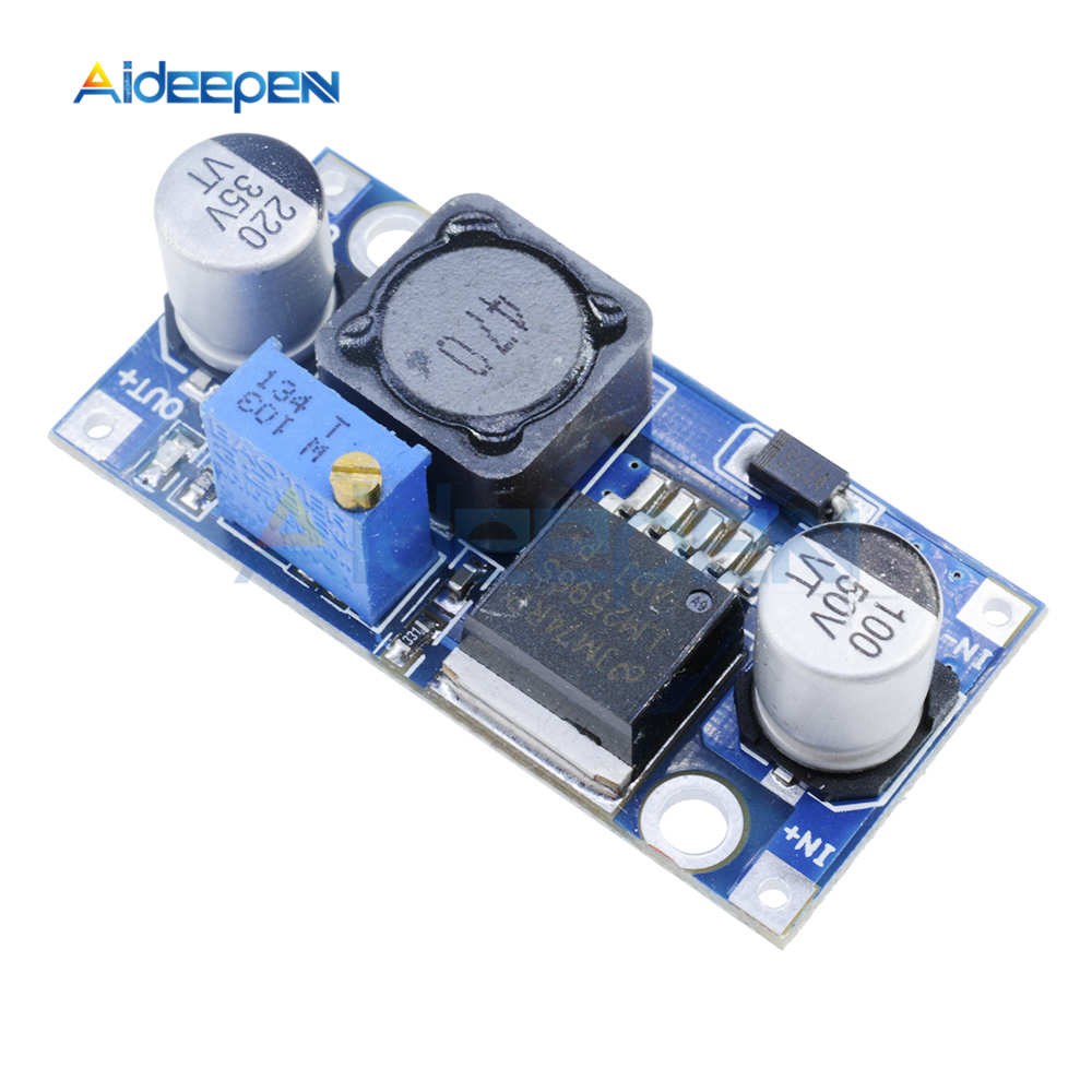 DC-DC Step Down Buck Converter Module LM2596 3.2V-40V To 1.25V-35V Adjustable Power Voltage Regulator