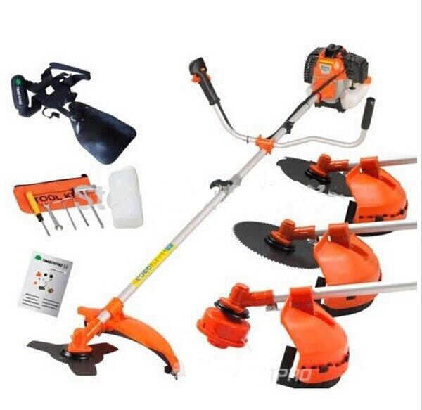 Multi potente 52cc gasolina 4 en 1 hierba cortador del strimmer jardín trabajo manual herramienta