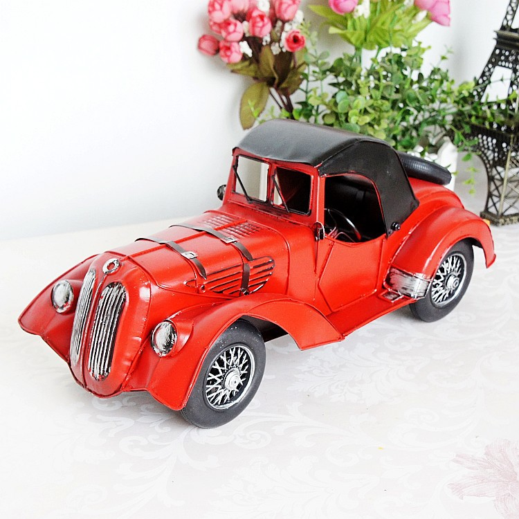 8701 Retro Vintage Car Model Home Table Ornaments Creative Gift car ornaments solar airplane model aircraft interior model car gift ideas
