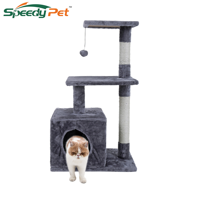 Domestic Delivery Cat Toys Swinging The Ball Furniture Scratchers Tree House Scratch Toy For Pet