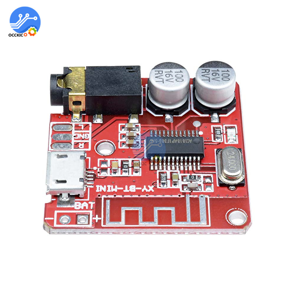 MP3 Bluetooth 4.1 Decoder DAC Board Lossless Car Speaker Audio Amplifier Board Analizador Stereo Receiver FM Converter Module 5V