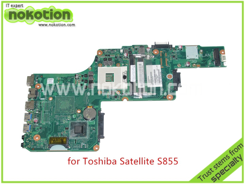 NOKOTION PN 1310A2509904 SPS V000275210 For toshiba satellite L855 S855 LAPTOP motherboard HM77 HD4000 graphics DDR3 nokotion for toshiba satellite c850 laptop motherboard 15 6 hm77 hd4000 graphics ddr3 h000052700 mainboard