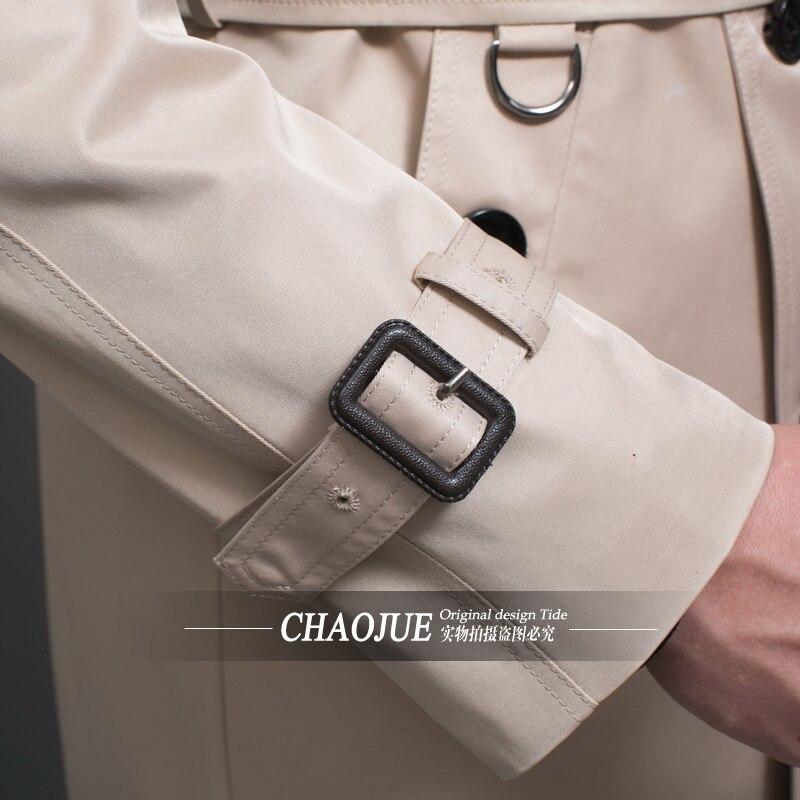 CHAOJUE бренд настроить одежда высшего качества Британский двубортный мужской длинный плащ Европа Тренч Куртка Пальто Тренч - 5