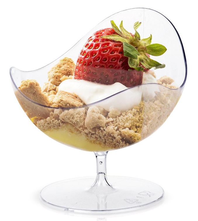 Promotion - Party Wedding Supplies Disposable Plastic Tableware, 69*65mm/50ml Egg Shape Transparent Dessert Cup, 10/Pack