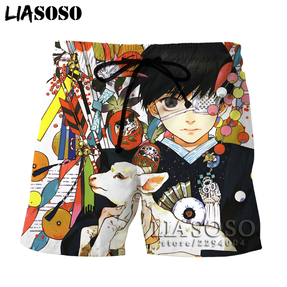 Men's Clothing Liasoso Harajuku Tee In Mens/women Shorts Anime Tokyo Ghoul Short Beach Print Boardshorts Trousers 3d To18 Commodities Are Available Without Restriction