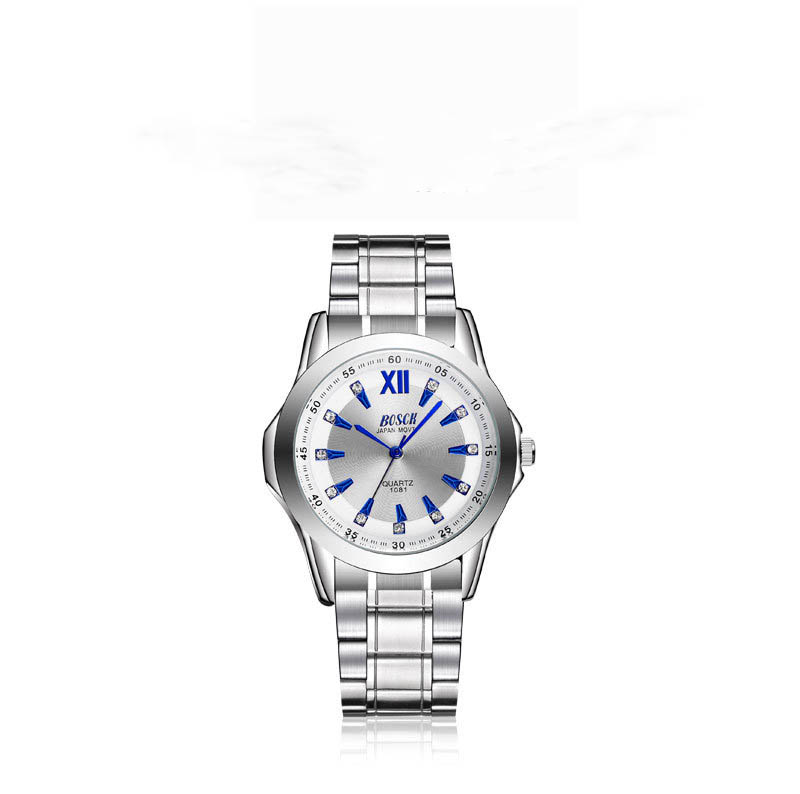 лучшая цена Watch men's automatic non-mechanical watch men's watch steel luminous waterproof quartz watch