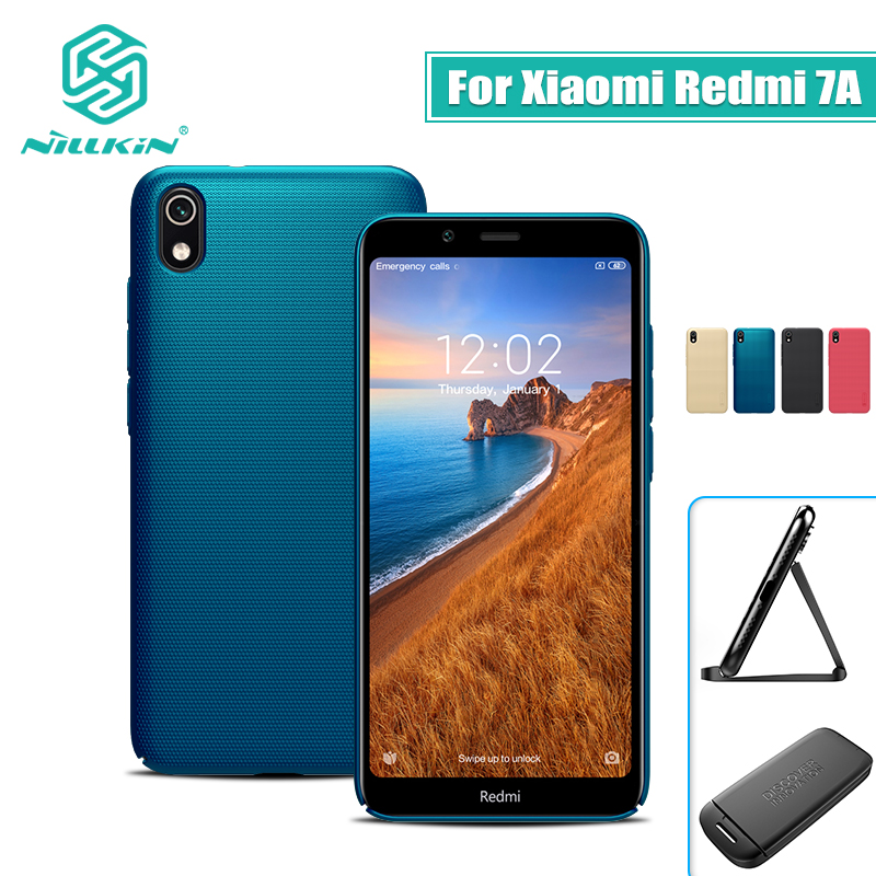 For xiaomi redmi 7a case cover 5.45'' NILLKIN Frosted PC Matte hard back cover Gift Phone Holder Redmi 7A Case redmi 7a global