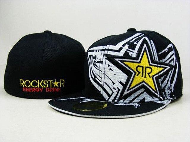 c598ebdfa New 2015 Rockstar baseball caps brand hip hop cap sport fitted hats for men  women fitted sizes summer hat gorras snapback caps