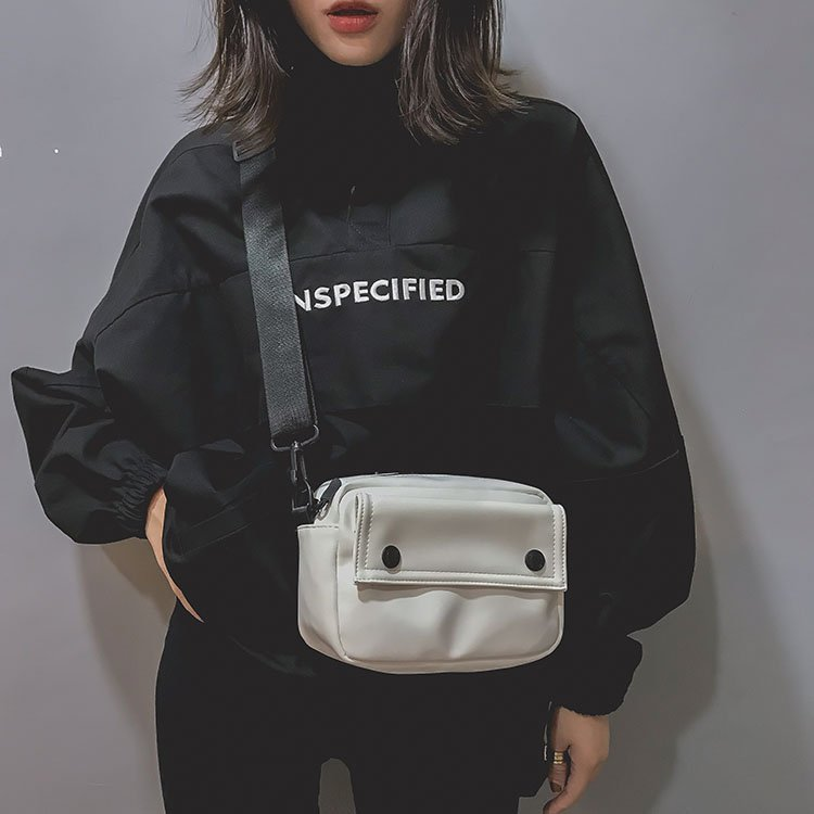 2018 New Korean Version Of The Wild Messenger Bag Fashion Solid Color Girl Small Square Bag Simple Shoulder Bag