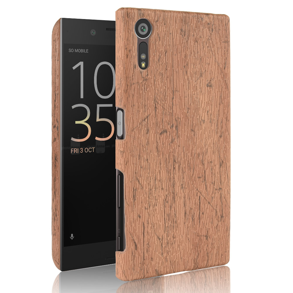 New For Sony Xperia XZ Case 5.2 Inch PU Wood Leather Grain Mobile Holster Shell For Sony Xperia XZ F8332 Phone Bag Case