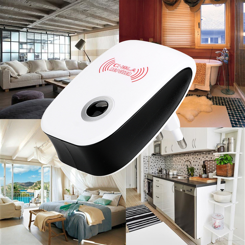 EU/US Plug Electronic Mosquito Repellent Indoor Cockroach Mosquito Insect Killer Rodent Contro Ultrasonic Pest Repeller Lahore