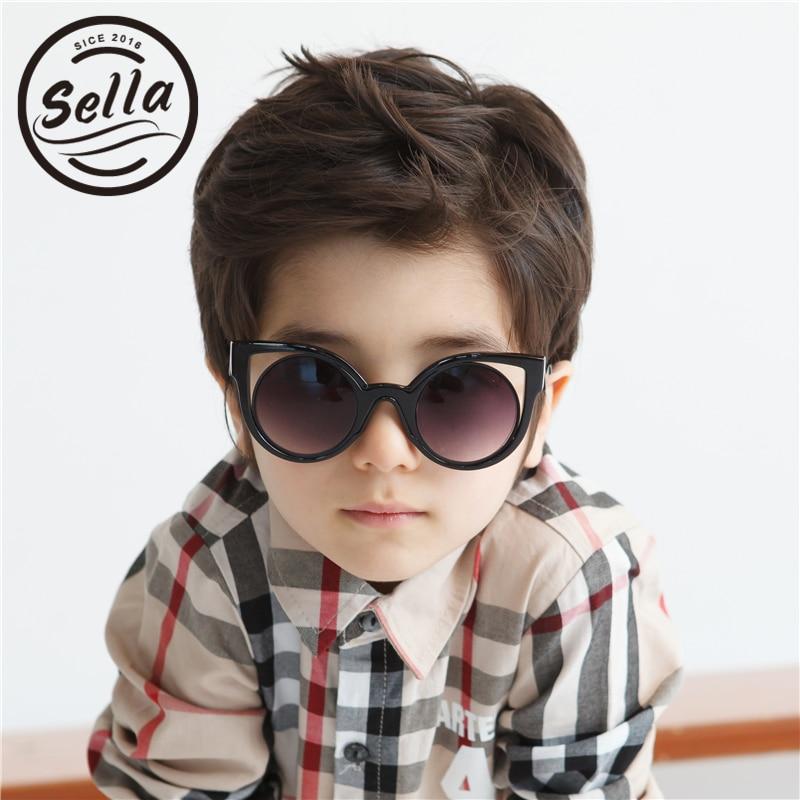 Sella Fashion Cateye Kids Sunglasses Brand Designer Trending Colorful Cute Children Sun Glasses UV Protection