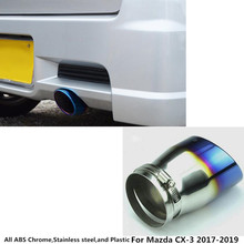Hot sale For Mazda CX-3 CX3 2017 2018 2019 car cover muffler exterior end pipe dedicate stainless steel exhaust tip tail hoods