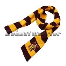 Scarf Potter Costume Knit Cosplay Gryffindor Series scarf With Badge Personality Wrap Gift Warm Soft College scarf