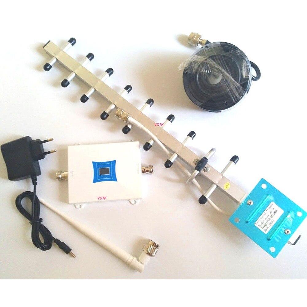 VOTK nowy telefon komórkowy LTE 4G wzmacniacz sygnału DCS 1800mhz regenerator sygnału 4G wzmacniacz sygnału z 13dbi antena yagi 50ohm kabel w Wzmacniacze sygnału od Telefony komórkowe i telekomunikacja na AliExpress - 11.11_Double 11Singles' Day 1