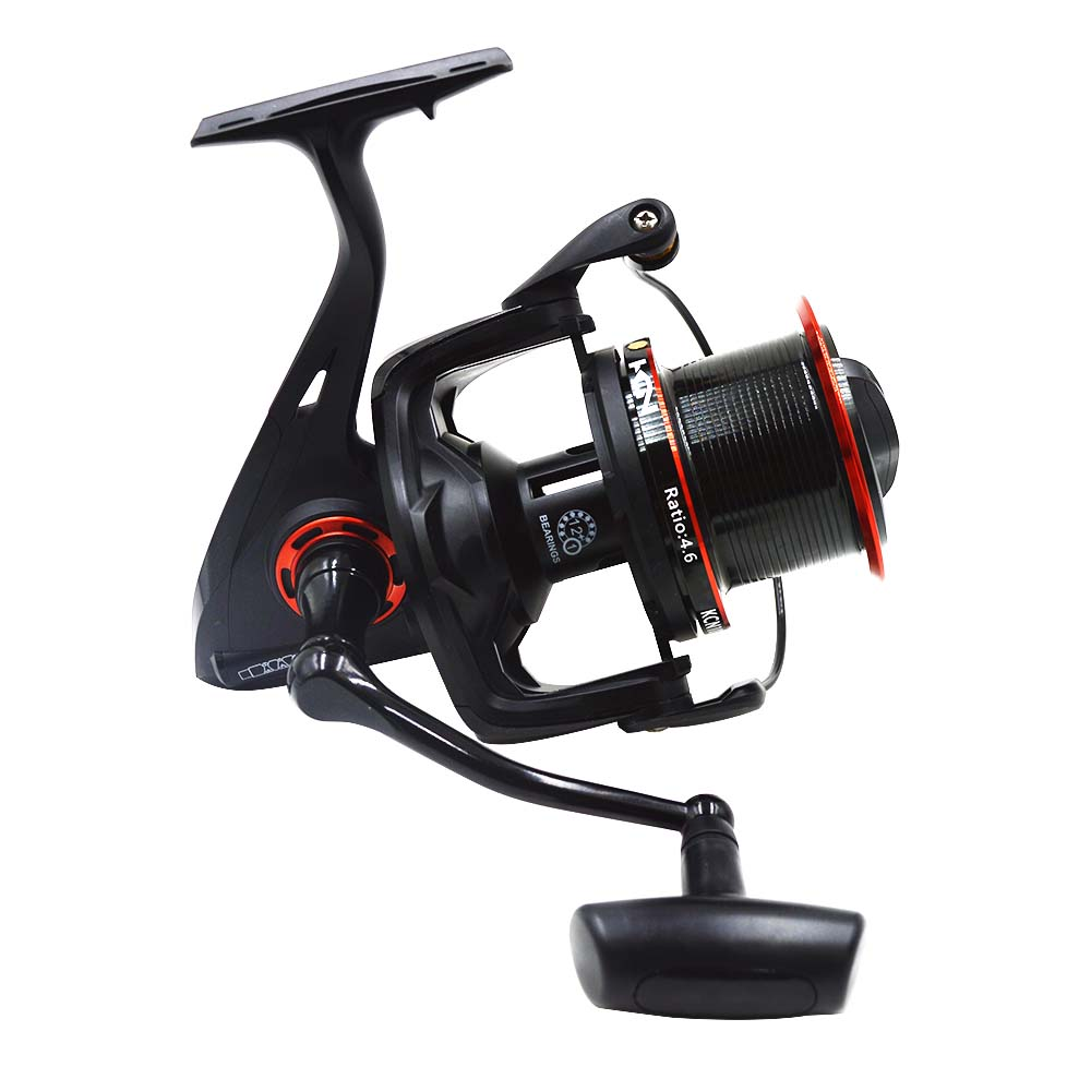 ФОТО  Fishing Reel 12+1BB  Bearing Balls KCN 8000/ KCN 10000 Series Metal Spool Handle  Spinning Reel Boat Fishing Wheel