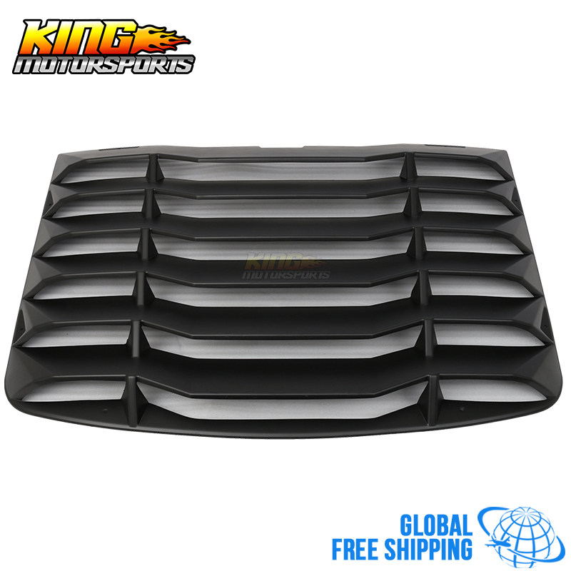 Fit For 03-08 Nissan 350Z Matte Black Rear Windshiled Louvers Cover ABS Global Free Shipping Worldwide