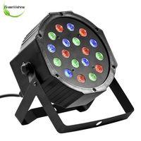 1Pc Professional LED Stage Lights 18 RGB PAR LED DMX Stage Lighting Effect DMX512 Master Slave