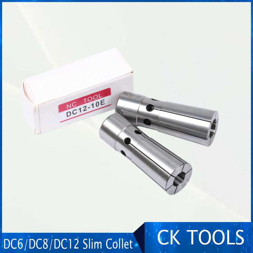 free shipping high precision slim clamping DC6 DC8 DC10 DC12 slim collet China dc spring small for slim collet chuck