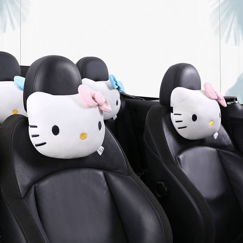 Hello kitty style Car headrest Neck Pillow Auto Neck Protection Rest Pillows For car Interior Girl For Gift