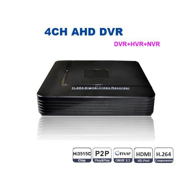 ФОТО CCTV Mini AHD DVR 4 Channel D1 Digital Video Recorder 4CH Hybrid HVR NVR System Onvif P2P H.264 Security Home support 3.5'' HDD