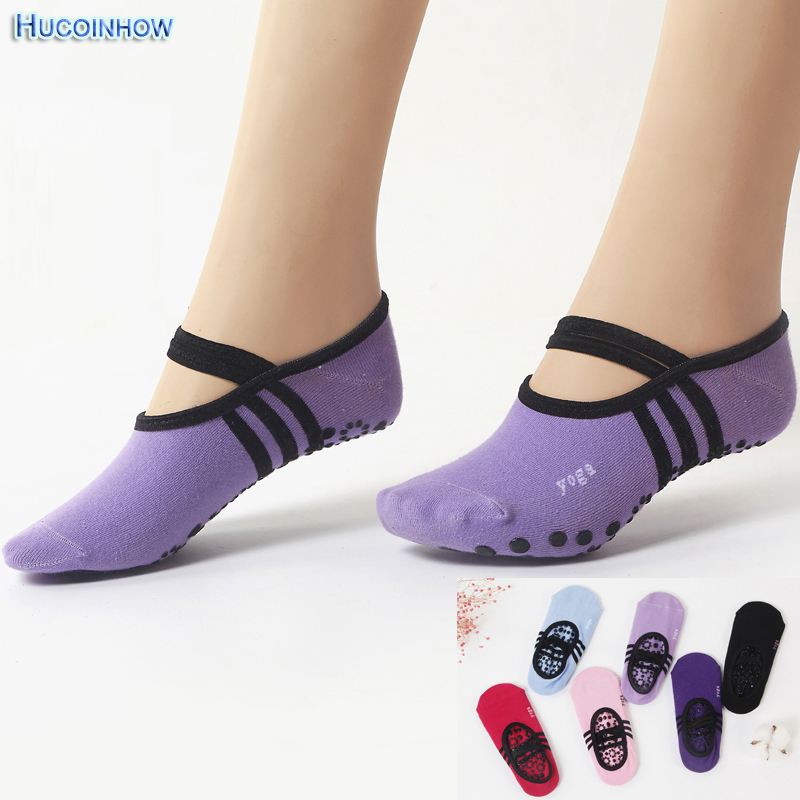 12Pair/Pack Women Yoga Sokcs Anti Slip Bandage Cotton Sport Socks Ladies Ventilation Pilates Ballet Socks Dance Sock Slippers sports yoga slipper women anti slip cotton cycling socks ladies pilates socks ballet heel protector professiona yoga dance socks