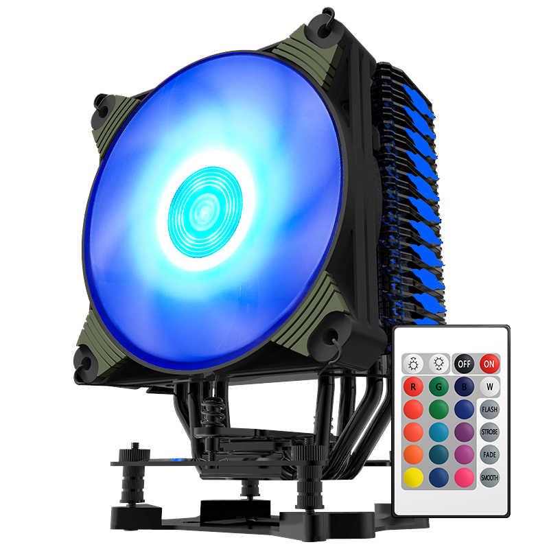 Aigo Icy K4 Cpu Koeler Tdp 300W 4 Heatpipes 4pin Pwm Rgb 120Mm Fan Radiator Voor Lga 2011/1151/1155/1156/775/1366/AM2 +/AM3 +/AM4
