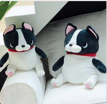WYZHY down cotton sitting posture French bulldog pillow plush toy sofa decoration to send friends and children gifts  50cm