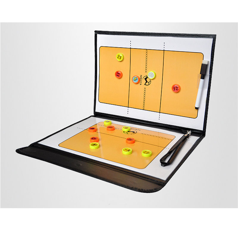 MAICCA Tablero de entrenador de voleibol Tablero táctico plegable con bolígrafo Coach Plate Volleyball Coaching book set equipment Wholesale