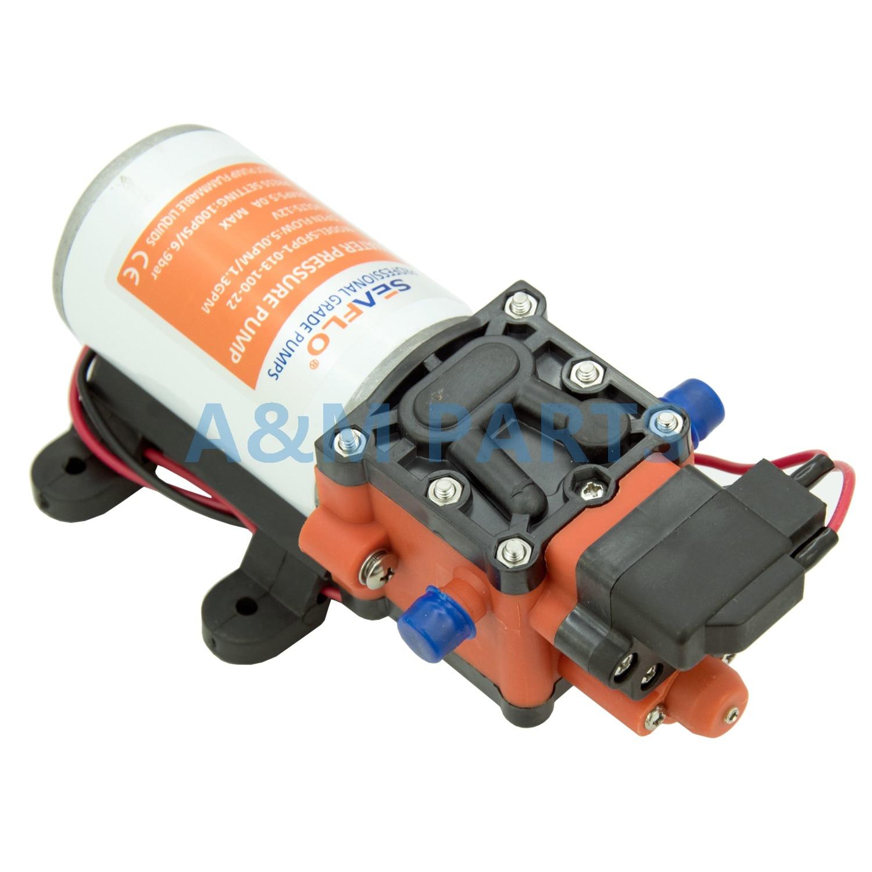 12V 100 PSI 1.3 GPM Diaphragm Pump Boat Marine RV Self Priming Water Pump