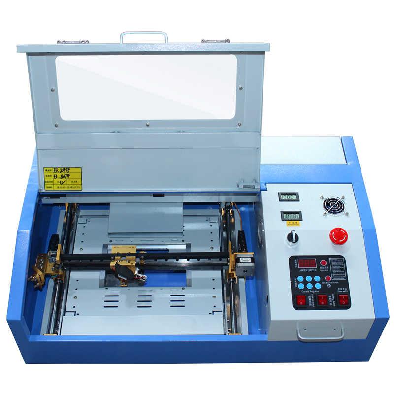 קטן לייזר מכונת חיתוך מחיר 3020 מכונת חריטת לייזר co2 לייזר חריטת מכונת 50 w