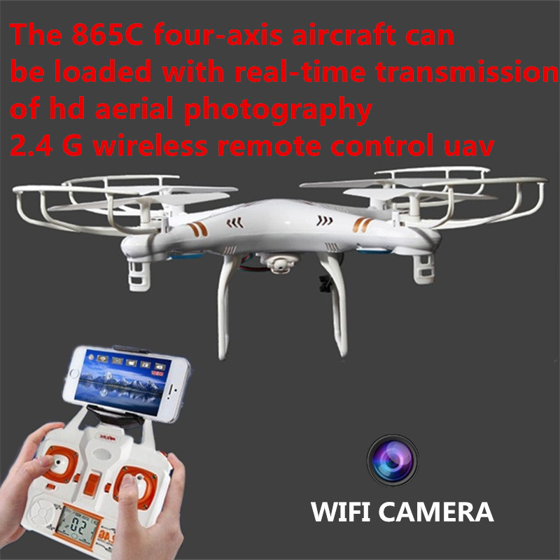 wifi fpv rc drone 865C X865C 2.4GHz 6-axis 360 Eversion Wifi Real-time RC Quadcopter Drone one key return With Light best gifts
