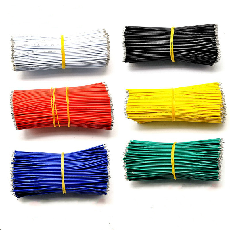 22AWG Electrical Wire Cable Double End Tinned 10cm PVC Colorful Connector Cable