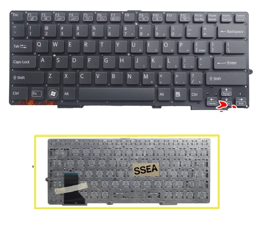 SSEA New laptop US Keyboard black for Sony VAIO SVE-13 SVS13 SVS1311 SVS131 SVS13118 without frameSSEA New laptop US Keyboard black for Sony VAIO SVE-13 SVS13 SVS1311 SVS131 SVS13118 without frame