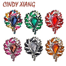 CINDY XIANG 6 Colors Avaible Large Crystal Flower Brooches For Women Vintage Elegant Pins Brooch Coat Bag Accessories Wedding