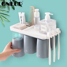 ONEUP магнитный Набор для ванной комнаты присоска держатель зубной щетки с подвешивкой Косметическая бритва полка для ванной Аксессуары