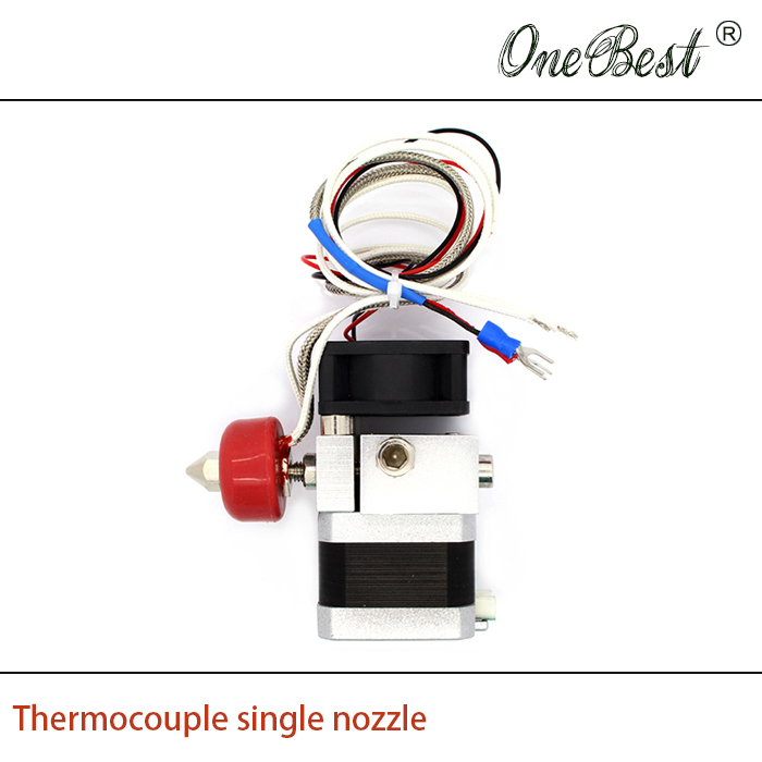 ФОТО 3D printer accessories Thermocouple heated print head extruder single nozzle 0.4mm line length 500mm Free shipping