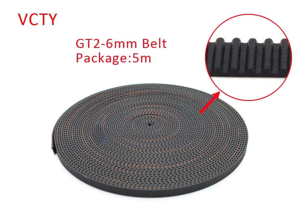 5 Meters GT2 2GT 6mm open timing belt width 6mm GT2 6mm for 3d printer RepRap