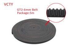 5 Mètres GT2 2 GT-6mm calendrier ouvert ceinture largeur 6mm Gt2-6mm Calendrier pour imprimante 3d RepRap Mendel Rostock CNC GT2 ceinture poulie