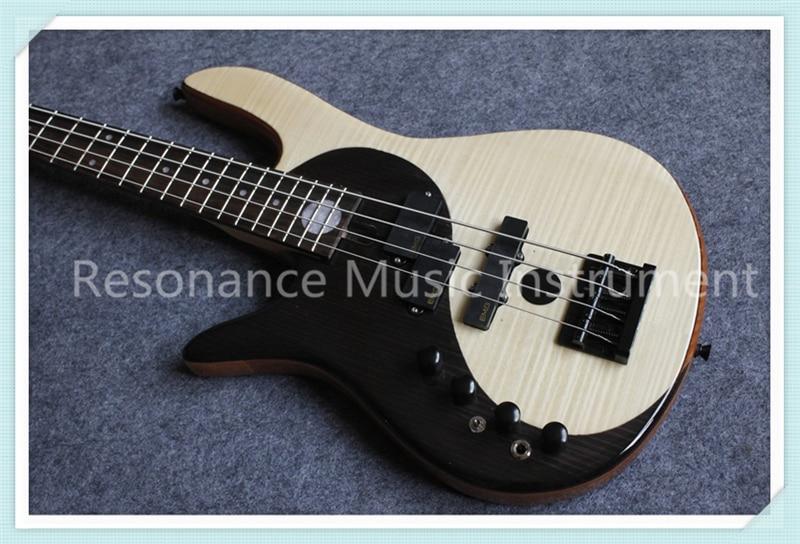 Chine OEM Custom Shop Gaucher 4 Chaîne Suneye Fodera Yin Yang Électrique Basse Guitare Avec Chine Cendres Corps Solide