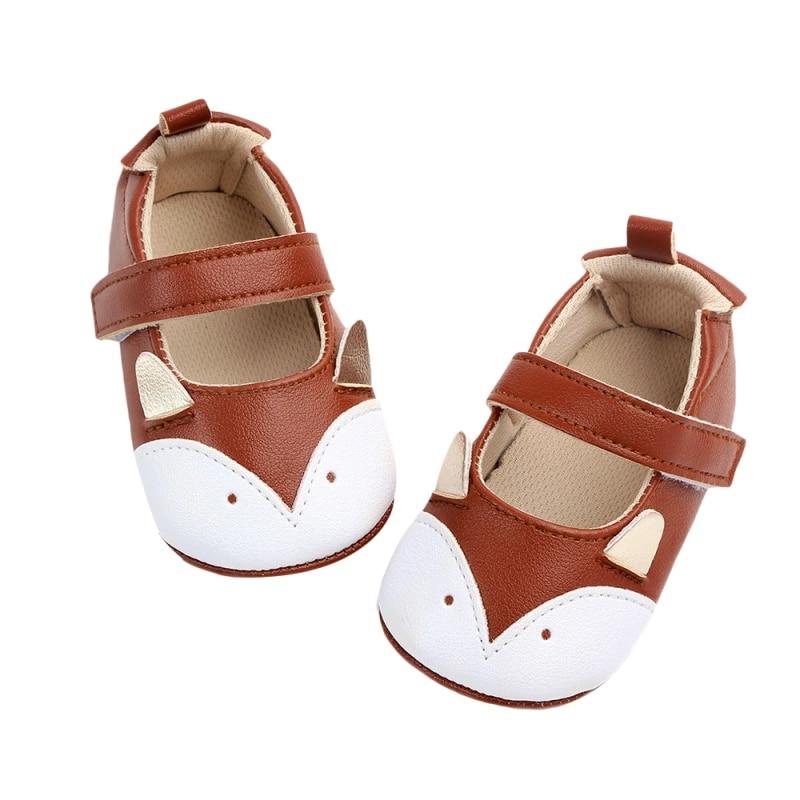 Spring Newborn Baby Boy Girl Shoes Cute Animal Print Shoe Anti-slip On Shoes Toddler Crib PU First Walker 0-12M