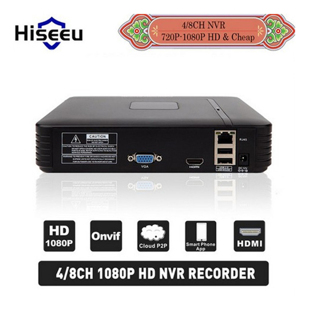 H.264 VGA HDMI 4/8CH CCTV NVR 8Channel Mini NVR 1920*1080P ONVIF 2.0 For IP Camera Security System For 1080P Camera Remote view переходник cablexpert mini displayport hdmi 0 1м белый a mdpf hdmim 001 w