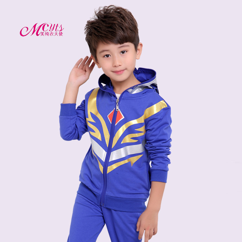 Superman Boys Sports Suit Kids Spring Sport Suits Children Clothing Autumn Costumes Kids Tracksuit 4 6 8 10 11 Years Boy Clothes 2018 spring autumn baby boy tracksuit clothing 2pcs set cotton boys sports suit children outfits 2 3 4 5 6 7 years kids clothes